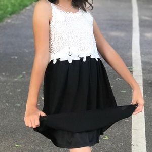Other - Black and White Girls Dress Size 10
